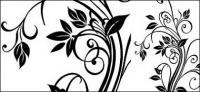 Exquisite schwarz-weiß-Muster-Vektor-material