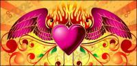 أجنحة الحشرات اللهب المادية للحب