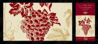 Vector de material publicado en botellas de vino-2