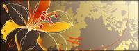 Ручная роспись цветы вектор справочных материалов