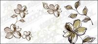 Estilo de flores pintadas a mano