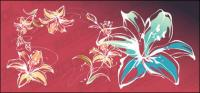 Lily estilo pintados a mano