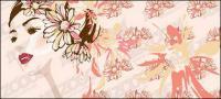 女性の花のベクター素材