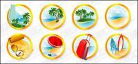 Le matériel de vecteur seaside resort icône