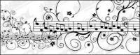 Музыка шаблон векторного материала
