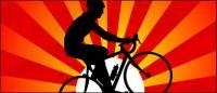 Puesta de sol en el ciclismo