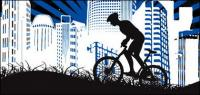 都市サイクリング素材
