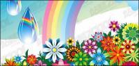 トレンドの花の虹