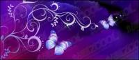 Patrones y fondo de purple Butterfly Dream