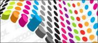 Matériau de vecteur en trois dimensions de couleur cylindrique