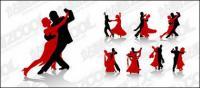 Вектор материальной танцевальных фигур в фотографии