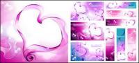 심장-모양의 연기 벡터 자료의 구성