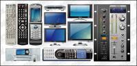 Serie de vector multimedia móviles con material eléctrico