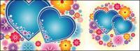 Belle couleur et les petites fleurs en forme de cœur