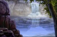 ОСЧС материала живописный водопад проточная вода