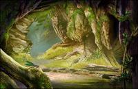 за пределами пещеры high-definition слоистых psd