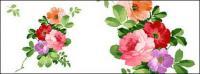 Flores pintados a mano por capas de material psd-3