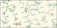 Variété de particules fines petites fleurs psd