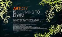 Moda coreana patrones magnífica serie psd capas de material-9
