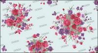 Moda coreana magnífico patrones serie Rose-12 y mariposa
