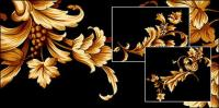 Patrón de pisada de oro Deluxe (hermosa)