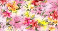 Peint à la main en couches matérielles fashion lily psd