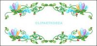 Encajes exquisitos Christmas Vector material-10