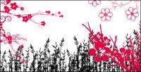 Flores de moda, patrón, serie de encaje