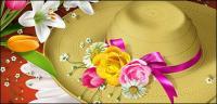 Bunga dan topi