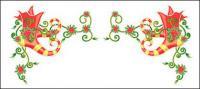 크리스마스 절묘 한 레이스 벡터 소재-12