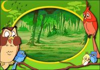 Kartun Disney frame psd bahan-10
