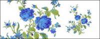 Bunga-bunga yang dilukis tangan berlapis materi psd-6