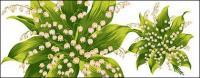 Bunga-bunga yang dilukis tangan berlapis materi psd-9