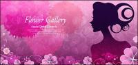 Flor y belleza 4 material de vectores
