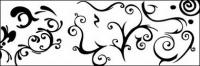 Vector de material para los patrones de blancos y negro