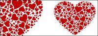 Compuesto por un número de grandes vectores en forma de corazón en forma de corazón