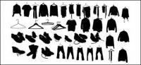 Chaussures de vêtements de vecteur