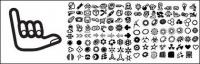 120 elements of the trend icon element vector