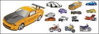 Material de vector de automóviles y motocicletas