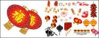 Elementos materiales de vectores de la fiesta de primavera