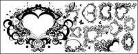 La tendencia de patrón en forma de corazón formado por serie de material de vectores