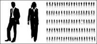 ベクトル プロ男性と女性の写真で