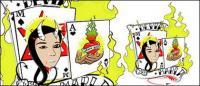 Покер с элементом пламени