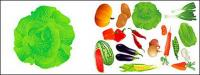 ベクトルの果物と野菜