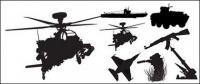 Imágenes vectoriales militares armas material