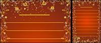 Oro precioso patrones vectores-13