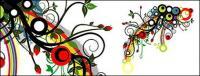 Шаблоны прилив цветов вектор