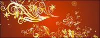 Gold wunderschöne Muster Vektor-3