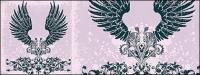 Tendências e padrões de material de vetor do elemento de asas