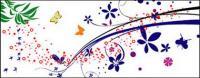 Vektor Schmetterling Muster und material